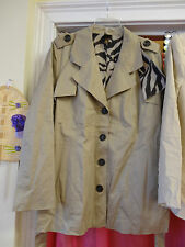 BB Boogemes Boo Gemes Coat Jacket Plus Size 1X Tan Lined with Belt NEW