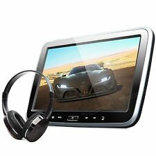 "Eonon 10.1"" Active HDMI Car Headrest Monitor DVD Player CD Kids Game +Headset S"