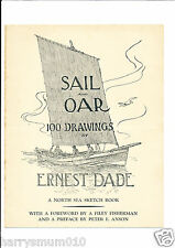 Sail and oar 100 drawings by Ernest Dade Advertisement leaflet and order FPP