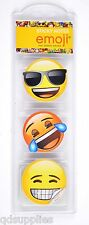 Pack 3 Emoji Sticky Notes Mini Pads Smiley Face Back To School Stationery EMSTN