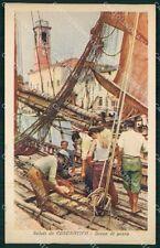 Forlì Cesenatico Pescatori cartolina QT3340