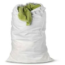 2 NEW HEAVY DUTY WHITE COMMERCIAL LAUNDRY BAG COLLEGE GYM LAUNDRY BAG 30''X40''