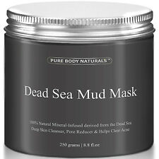 Pure Body Naturals Dead Sea Mud Mask 100% 8.8 fl oz 250 grams BEST SELLING