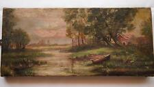 Charming Ideallic Antique Oil Painting signed 'L. Walsh 1911' - English(?)