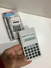 VINTAGE CEDAR Collectable CALCULATOR In New Condition With Box