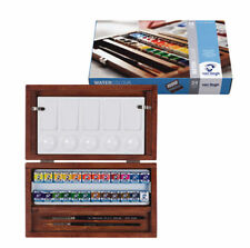 Royal Talens - Van Gogh Artists Watercolour Half Pan Wooden Box Paint Set