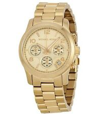 Michael Kors Midsized Chronograph Date Gold-tone Unisex Watch MK5055