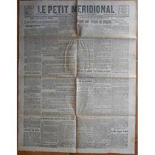 Le PETIT MÉRIDIONAL Lunel Pézenas Cette Clermont-Hérault Montpellier 27 Oct 1918