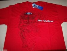 MENS FORD RACING MOTOR CITY MUSCLE SIZE L XL XXL OR XXXL RED SHIRT! NASCAR NHRA!