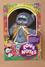 Vintage Very Rare 1978 Love Notes Doll - Tuney Raccoon musical Squeeze doll