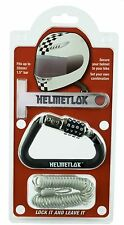 HelmetLok and Extension - Motorcycle Crash Helmet Lock and Cable