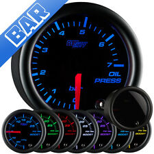 GlowShift 52mm Tinted 7 Color BAR Oil Pressure Gauge - GS-T704-BAR