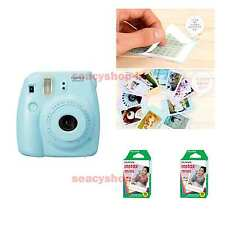 Fujifilm Fuji Instax Mini 8 Instant Polaroid Camera Blue + 20 Film Photo shot
