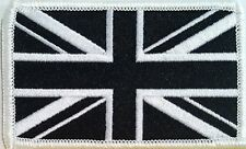 UK England United Kingdom Tactical Flag Iron On Patch Black & White MC Emblem