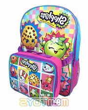 "ShopKins 16"" Large School Backpack with Detachable Lunch Bag Combo for Kids"