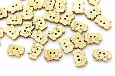Elephant Wood Button Cute Animal Baby Children Natural Wooden Shape 20pcs