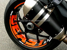 Wheel Rim Stripes for KTM SuperDuke SD 1290 R SDR Decal Tape Sticker Supermoto