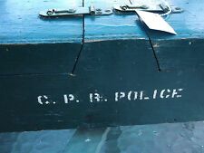 RARE VINTAGE OBSOLETE CPR CANADIAN PACIFIC RAILWAY POLICE FINGERPRINT KIT