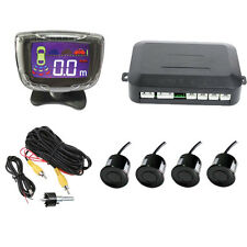 4 Parking Sensors LCD Display Car Auto Backup Reverse Radar System Reversing Kit