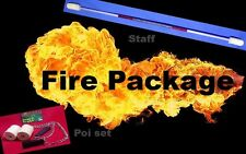 Awesome Fire twirling Package deal. Staff and Poi. Choose from 17 colours