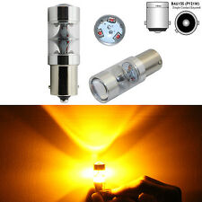 2x 45W Bau15s 150° 7507 PY21W High Power 9 CREE LED Turn Signal Light Bulb Amber
