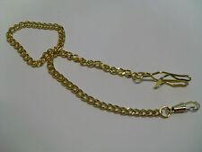 chaine pour montre à gousset dorée jaune