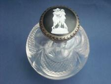 FABULOUS ANTIQUE STERLING SILVER PERFUME SCENT BOTTLE THREE GRACES NIELLO LID