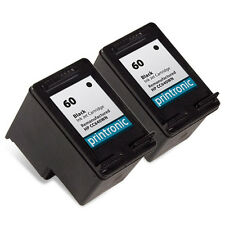2 Pack HP 60 Ink Cartridge - DeskJet D2568 D2645 D2660 D2663 D2680 F2400 F2