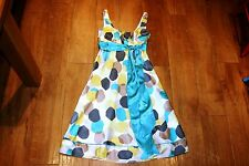 MONSOON silk dress SIZE 10 50's vintage fit&flare pinup housewife PRISTINE COND!