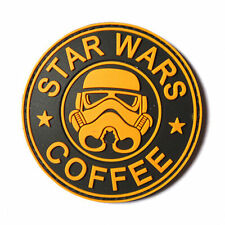 YELLOW STAR WARS COFFEE TACTICAL ARMY MORALE AIRSOFT 3D PVC RUBBER PATCH