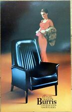 1960s Chrome Advertising Postcard: 'The Burris Chair' - 'As Seen in Playboy'