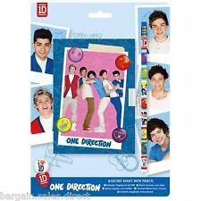 ONE DIRECTION 1D KIDS HOME & SCHOOL SECRET DIARY WITH PADLOCK & PENCIL