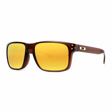 Oakley Holbrook OO9244-05 Matte Rootbeer/24K Iridium Asian Fit Men's Sunglasses