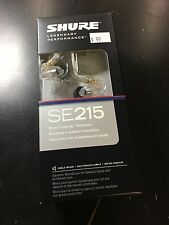 SHURE SE215-CL Clear Sound Isolating In-Ear DJ Monitoring Earphones Headphones