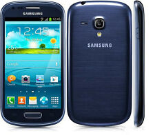 New Unlocked Samsung Galaxy S III Mini GT-I8190 - 8GB Pebble Blue Smartphone 5MP
