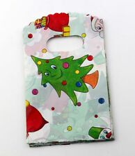 Jewelry Pouches.50pcs 9X15cm Christmas tree Plastic Bags Jewelry Gift Bag