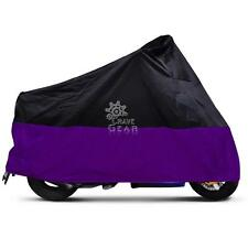 XXL Black/Purple Motorbike Cover Fit Harley Touring Road King Electra Glide New