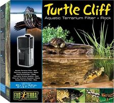TURTLE CLIFF AQUATIC TERRARIUM FILTER & ROCK - MEDIUM