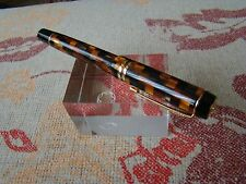 Parker Duofold Centennial Check Amber Rollerball Pen UNUSED