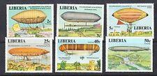 Liberia # 801-06 MNH Complete 1978 Zepplin 75th Anniversarry Flight