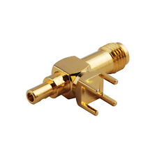 SMA thru hole Jack female RA PCB Mount & ST RF Connector for Cable1.13mm,RG178