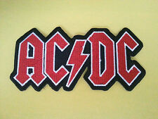 PUNK ROCK HEAVY METAL MUSIC SEW ON / IRON ON PATCH:- AC/DC (a) RED & WHITE