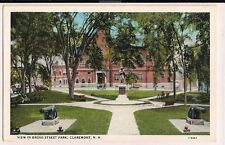 View in Broad Street Park Claremont NH New Hampshire  Postcard