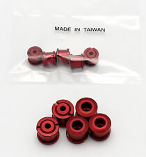 BIKE ALUMINUM SINGLE CHAIN CHAINRING CRANK NUTS BOLTS SCREWS 5 PAIRS - RED