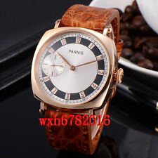 44mm parnis gold-plated case manual wind mens Asia 6497 watch PN411