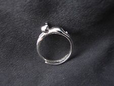 925 Sterling Sliver Ring - Silver Cat Stretched Out