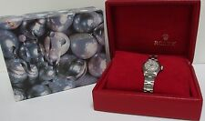 RARE Oyster Genuine LADIES ROLEX MOP Diamond 18k SS Watch with BOX