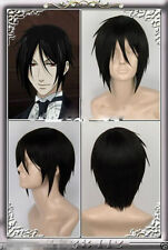 Cosplay Black Kuroshitsu​ji Black Butler Sebastian Michaelis Short Wig Straight