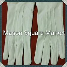 Freemason Masonic Plain White Dress Gloves