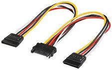 S-ATA Y Stromkabel 1x Buchse 2x SATA Power Stromadapter